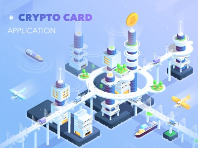 Crypto currency world illustration graphicdesign design mining iphone illustration isometric vector ux ui applicaiton crypto currency bitcoin services