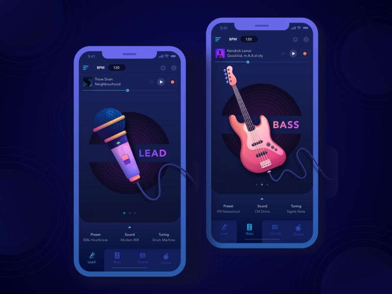 Music Soft App music graphicdesign vector appdesign ux design interface illustration flat ui
