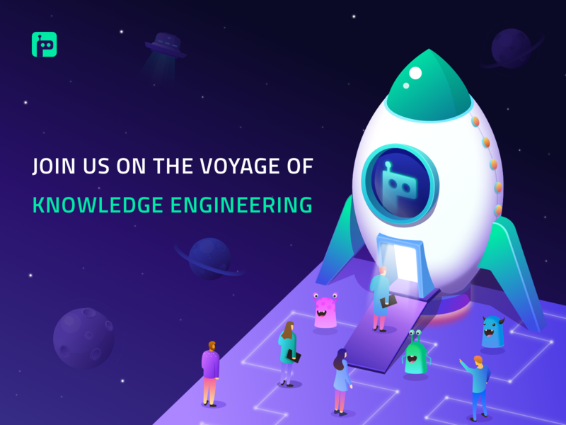 Grakn Cosmos Banner isometric design space rocket appdesign web icons graphicdesign illustration vector isometric ux ui