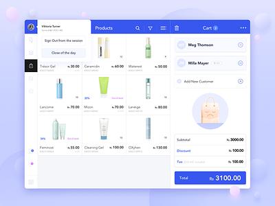 Cosmetics Web App icons interface graphicdesign ipad medicine branding vector illustration app design website ecomerce flatdesign ui  ux userinterface web app