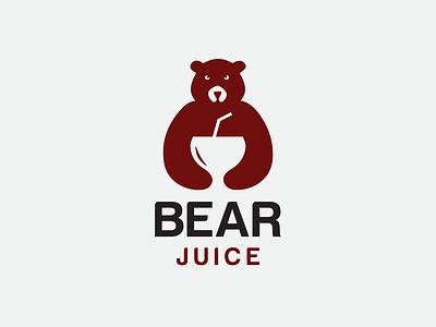 Bear Juice Logo vector branding minimal simple logo logotype design logos logo juice bear juice beer