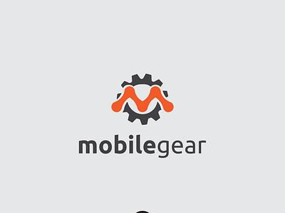 Mobile Gear Logo modern simple templates symbols design logo m m logo logo m gear