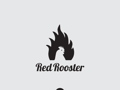 Red Rooster Logo vector minimal simple logo branding logotype design logo rooster ayam red rooster logo