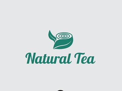 Natural Tea Logo branding logotype simple logo tea logo natural tea logo design logos logo tea natural logo tea