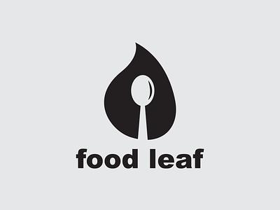 Food Leaf Logo Design icon illustration templates simple vector minimal simple logo branding logotype design logo leaf food food leaf logo design