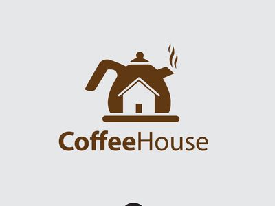 Coffee House Logo Design logos home coffee house coffee vector simple logo logotype branding logo