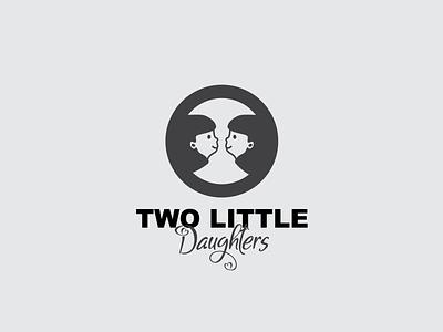 Two Little Daughters Logo minimal simple logo vector logotype branding graphic design logos templates simple design logo daughters two little daughters logo