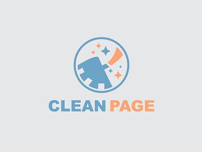 Clean Page Logo Design modren minimal vector simple logo logotype branding templates simple design logos page clean logo clean page logo design