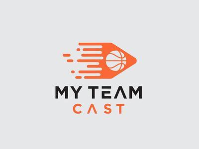 My Team Cast Logo basket foli bola vector simple logo branding logotype templates simple design logo cast team my team cast logo