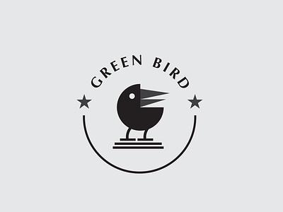 Green Bird Logo Design Simple vintages icon templates bird logo logos vector simple logo branding logotype design logo bird