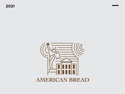 American Bread Logo Design templates logos illustration vector branding logotype simple logo simple design logo bread american bread logo design