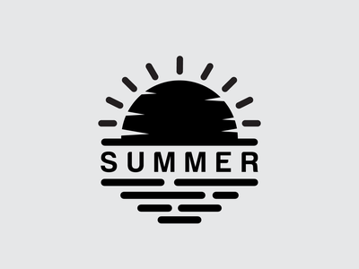 Logo Summer Design templates motion graphics minimal vector simple logo branding logotype design logo logos logosummer summer
