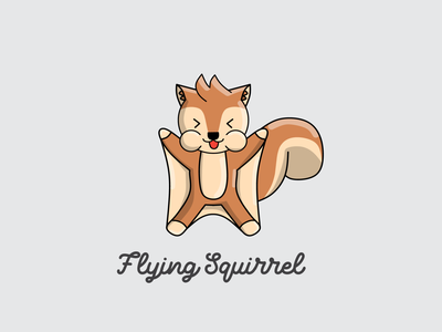 Flying Sqirrel Logo Animal animal logo design logos branding logo graphic design animation flying squirrel flaying tupai