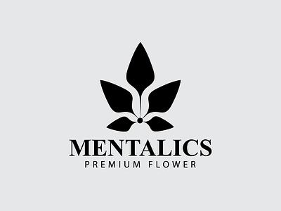Mentalics Premium Flower ux illustration minimal vector simple logo logotype logo branding simple beuty design logos premium logo flower flower mentalics premium flower