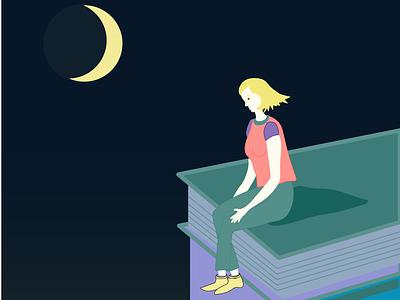 skybooks vector illustration