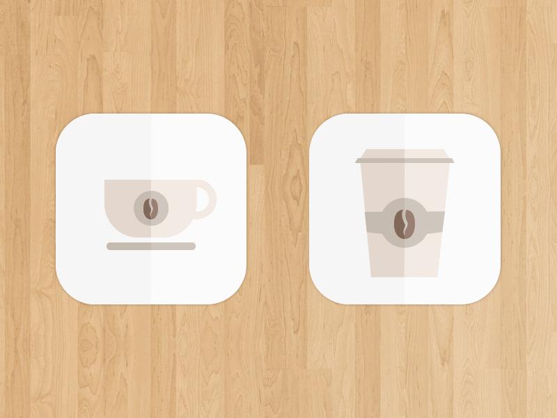 [Freebie] Coffee Cup icon icon app icon coffee ios7 cup wood minimalistic playoff