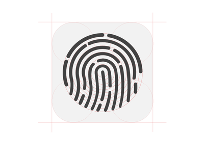 Touch ID icon construction PSD apple touchid icon analysis construction fingerprint scanner keynote iphone5s iphone5c freebie playoff