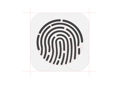 Touch ID icon construction PSD