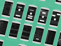 Mobile Application Wireframing - Friendryde