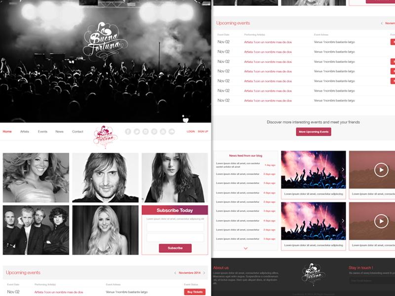 Homepage Design - Labuenafortuna webdesign nightclub landing flat frontend onepage wordpress responsive