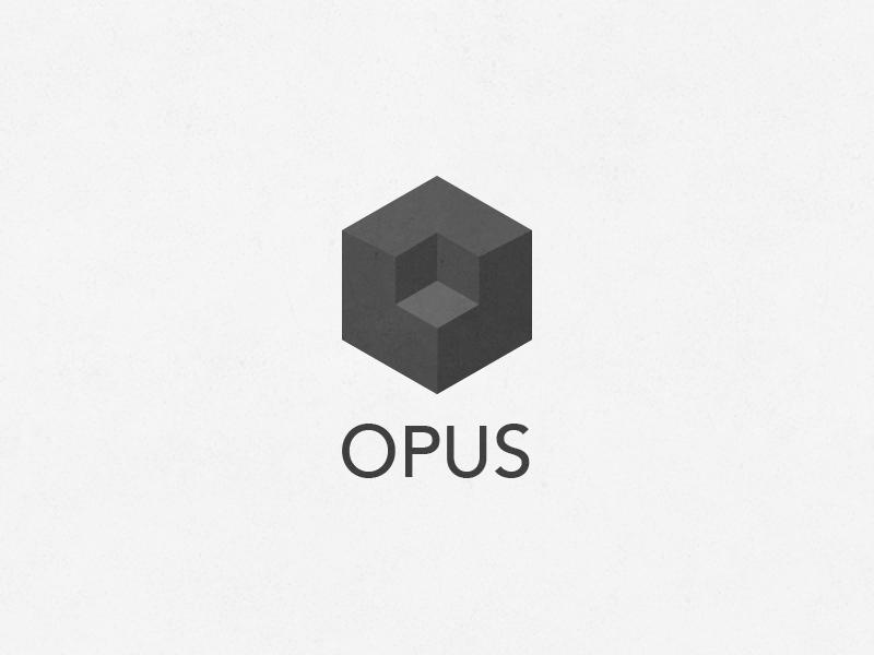 Opus Logo saas diagonal polygon branding logo opus