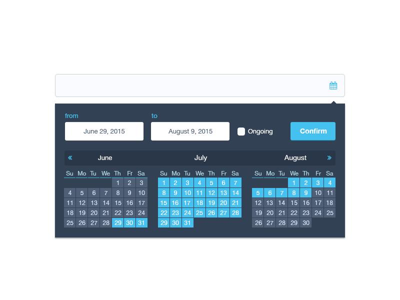Effective range calendar