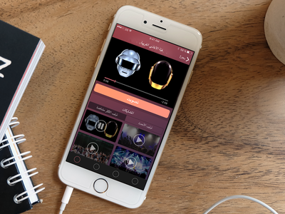 RTL music voting app for iPhone