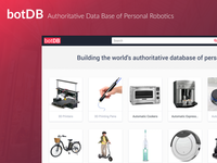 BotDB - Authoritative data base of personal robotics