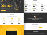 Loudmouse Home page black yellow cheese ui ux conversion marketing desktop landing landingpage