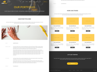 Loudmouse - Portfolio page with case studies yellow ux ui marketing landingpage landing desktop conversion cheese black
