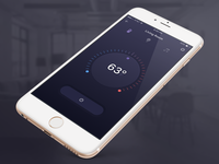 Atoma - Home Automation App purple ui temperature ac heat iphone app ios automation home
