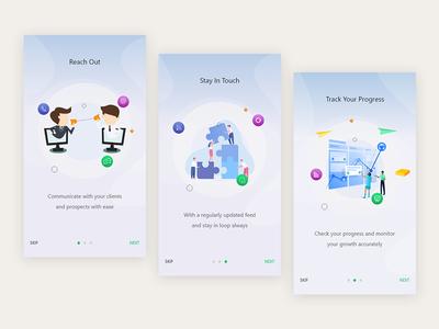 hello dribble illustraion ui mobile on-boarding visual design