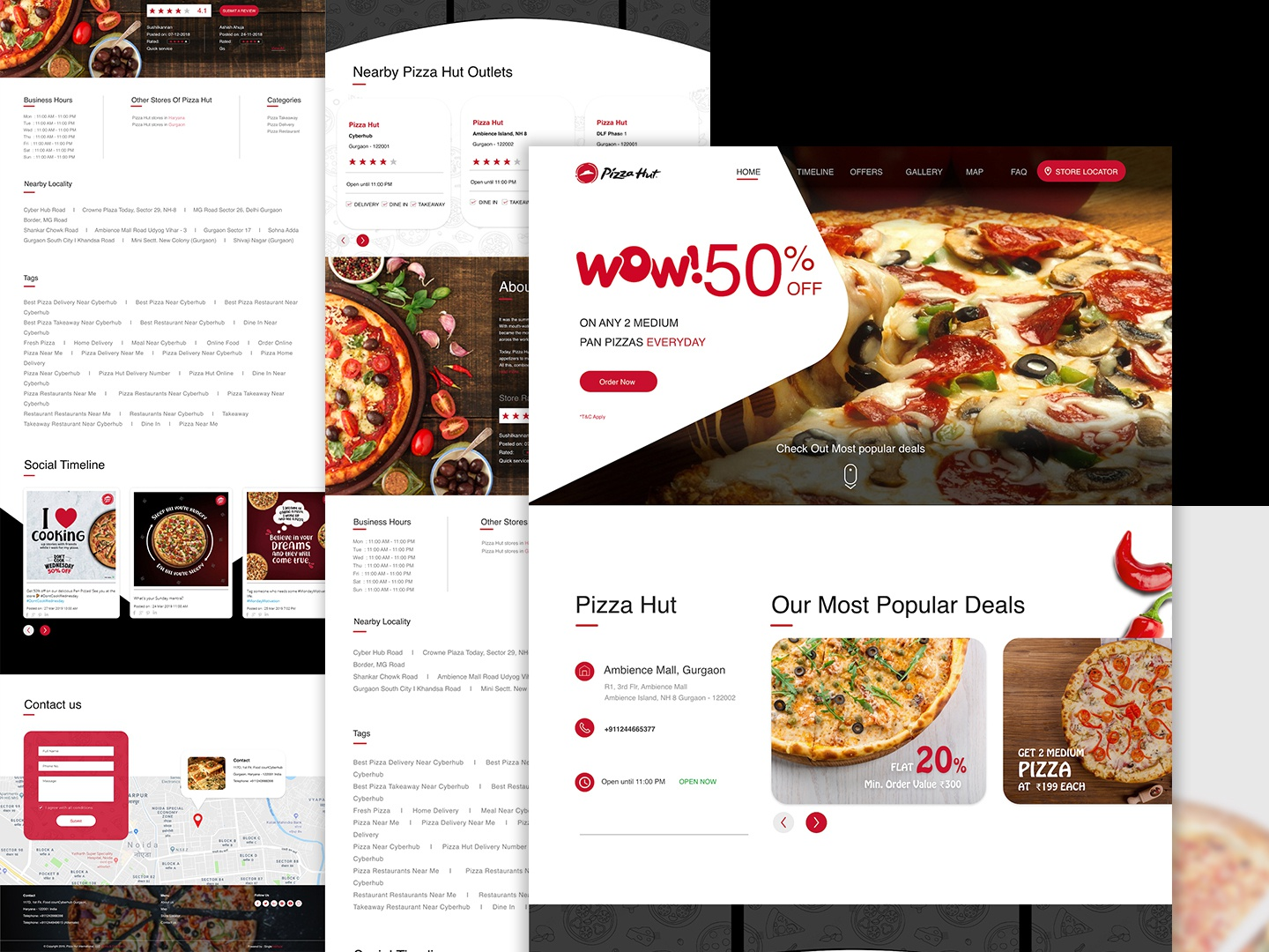 pizza hut landing page innovation pizza hut food website landing page design website desigien observation design ui creation concept branding brand identity