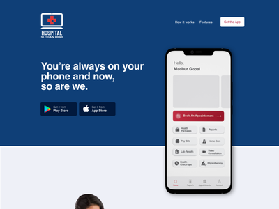 Landing Page new web ux ui app branding