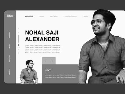Me the Model modelling web design ui branding