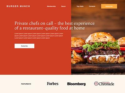 The Burger Munch burgers ux design branding web design ui