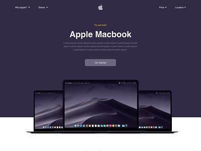 The Macbook moto branding ui design ux design web design