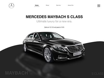The Maybach mercedes mercedes-benz branding ui design ux design web design ui