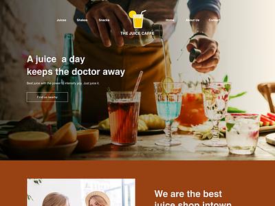Juice Caffe branding ui design ux design ui web design