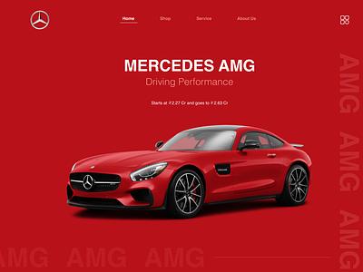 The AMG mercedes-benz mercedes ux ui design ux design branding web design ui