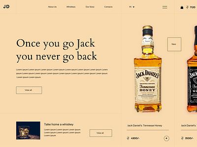 The JD's Whiskey Shot ux ui design ux design web design branding ui