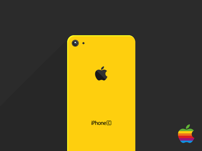 Flat iPhone 5C Long Shadow iphone iphone5 iphone5c flat