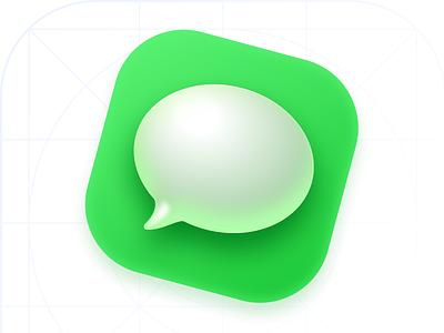 iMessage icon macOS Big Sur - Figma macos big sur skeumorphic icon imessage