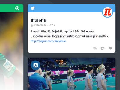 Now - Social widget