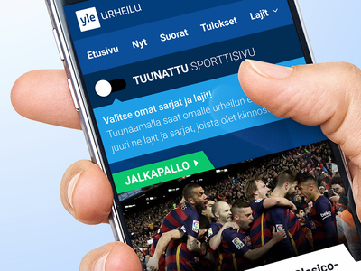 Yle Sports material design sports ui