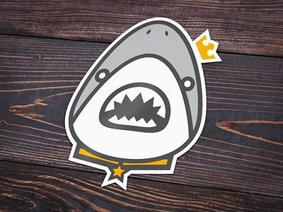 Click Bait Sticker/Badge shark sticker badge