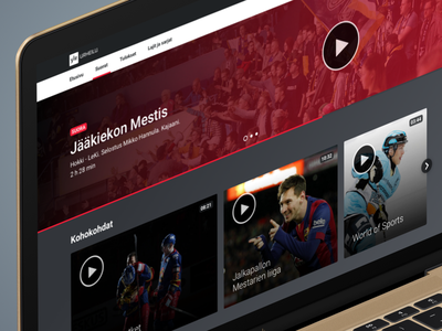 Yle Sports - Live video page streaming sports video ui