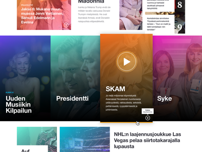 Yle Areena candy colors ui redesign card design