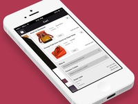 E-commerce app sidebar