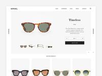 Sunglasses shop. Product Page